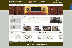 棕色风格企业网站模板sell_03,适合家具、建材等行业